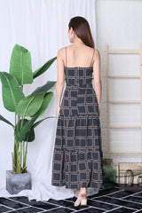 MOROCCO MAXI SKIRT IN NAVY