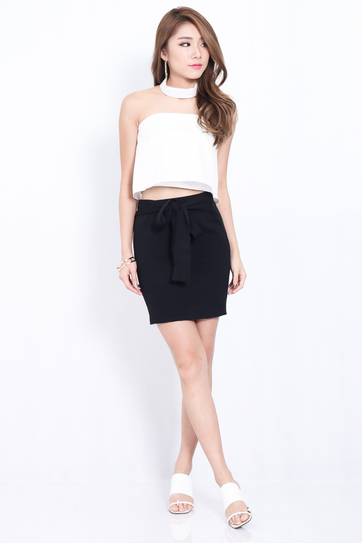 (RESTOCKED) THE VERSATILE KNOT SKIRT IN BLACK