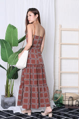 MOROCCO MAXI SKIRT IN RUST