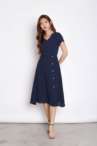 *TPZ* (PREMIUM) NYSSE DRESS IN NAVY