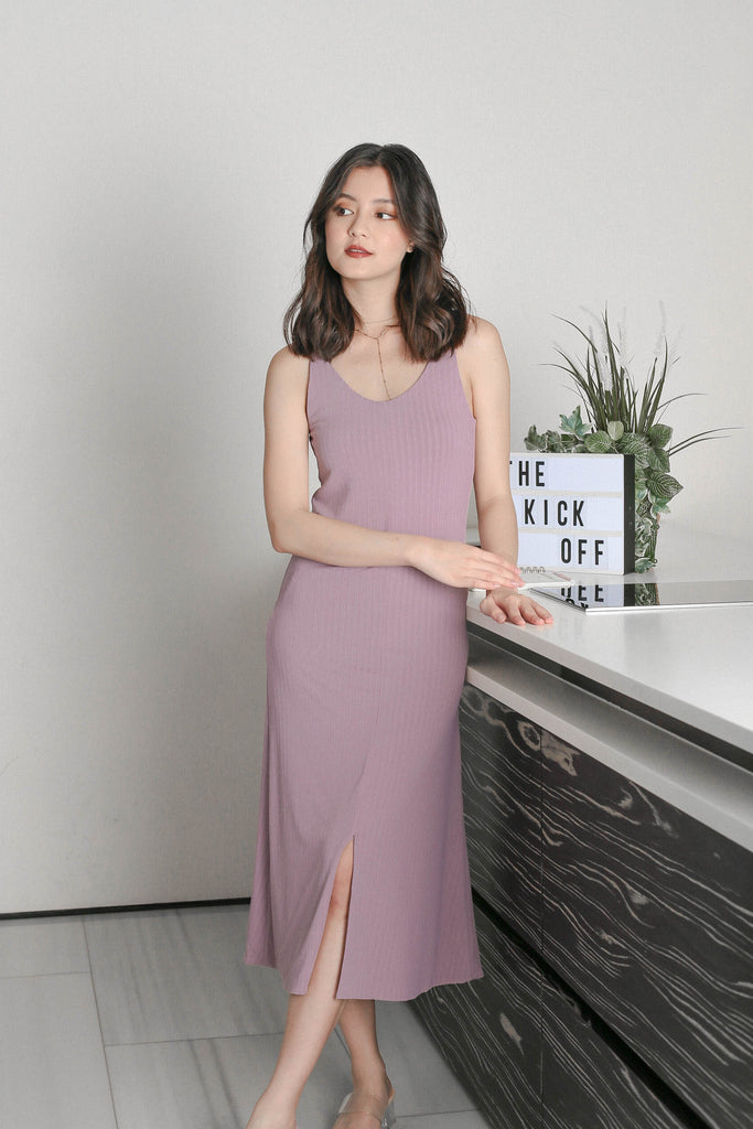 *TPZ* ADRIANA 2 WAY BASIC DRESS IN LAVENDER