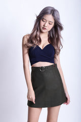 (RESTOCKED) UNDERWRAP BRALET IN NAVY - TOPAZETTE