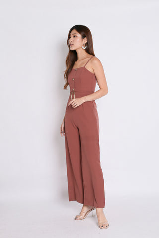7593edd77a4e (PREMIUM) FAYE JUMPSUIT WITH BELT IN DUSTY CORAL
