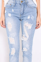 *RESTOCKED* ALMOST THERE BOYFRIEND JEANS IN LIGHT - TOPAZETTE