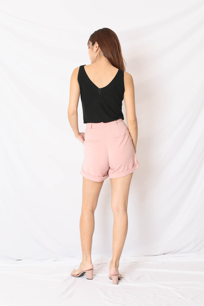 *TPZ* (PREMIUM) EVERY DAY CUFFED UP SHORTS IN BABY PINK