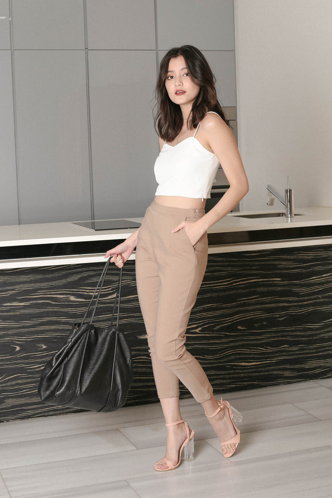 *TPZ* KYLA TAILORED PANTS IN KHAKI