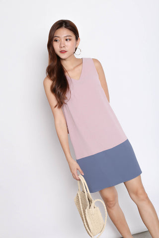 *TPZ* (PREMIUM) DREA REVERSIBLE DRESS (BLUE/ PINK)