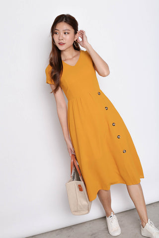 *TPZ* (PREMIUM) NYSSE DRESS IN MARIGOLD