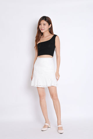 *TPZ* (PREMIUM) DAVINA EYELET SKIRT IN WHITE