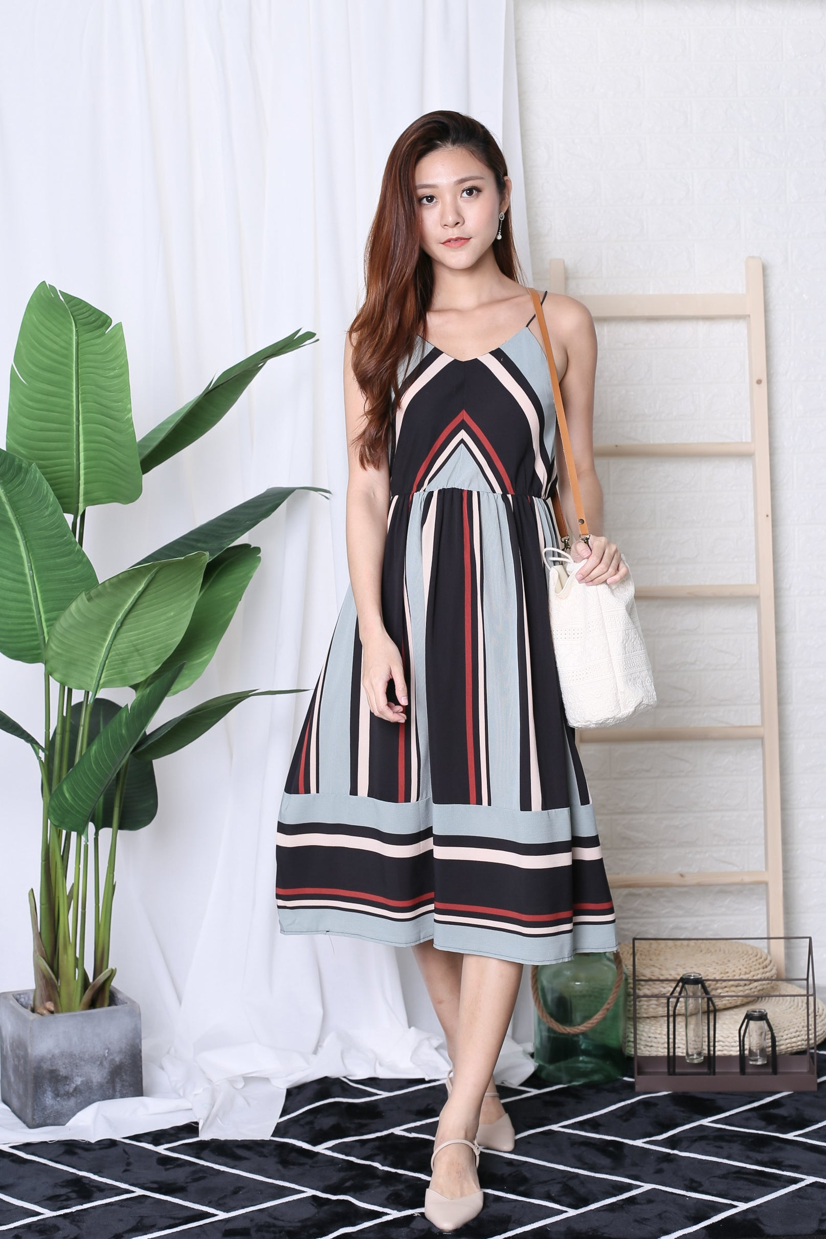 KIVO KOREAN STRIPES DRESS