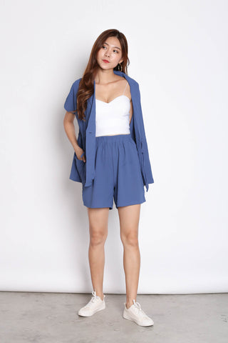 REV TRENCH TOP + SHORTS SET IN AZURE BLUE