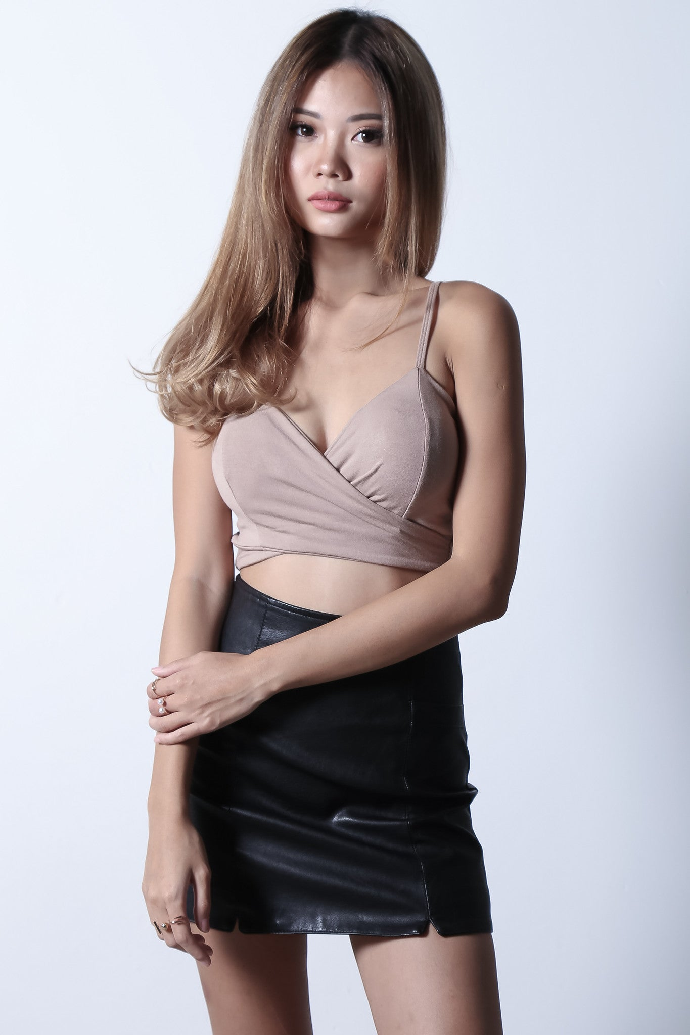 *RESTOCKED* UNDERWRAP BRALET IN TAUPE - TOPAZETTE