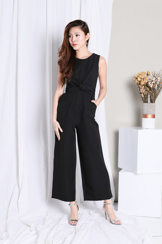 21c932037c (RESTOCKED)  PREMIUM  UNICA TWISTED JUMPSUIT IN BLACK