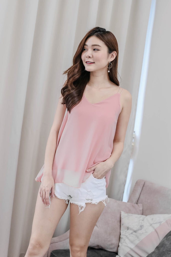 BASIC BREEZY SPAG TOP IN PINK