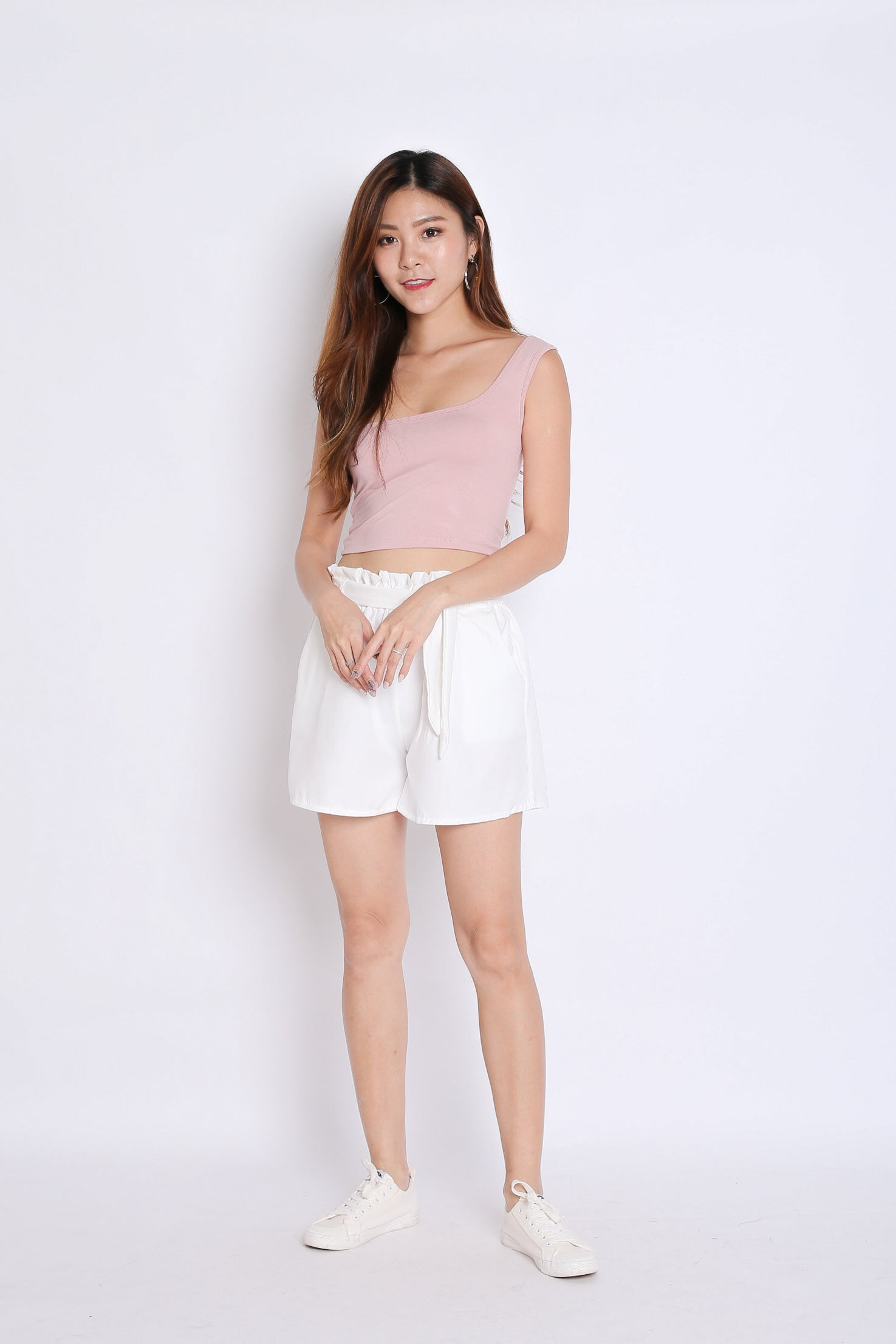 BASIC TOGA SQUARE CROP TOP IN DUSTY PINK