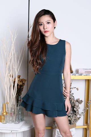 (BACKORDER) *TOPAZ* (PREMIUM) YEVA MERMAID DRESS ROMPER IN FOREST