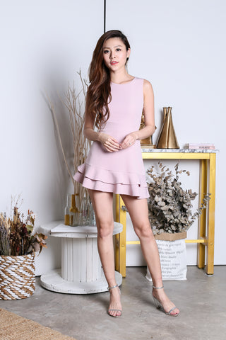 *TOPAZ* (PREMIUM) YEVA MERMAID DRESS ROMPER IN DUSTY PINK