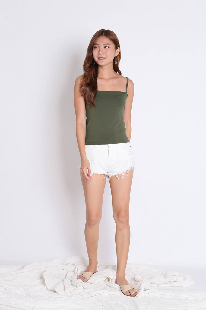 BASIC SPAG SQUARE TOP IN ARMY GREEN - TOPAZETTE