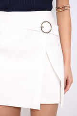 MINIMALIST RING SKIRT IN WHITE
