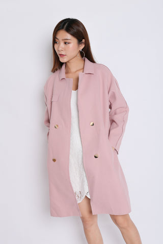 VECCA COAT IN DUSTY PINK