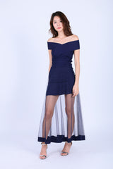 CROSSOVER MESH MAXI IN NAVY