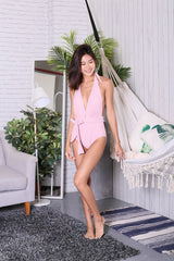 WRAP AROUND MONOKINI (DUSTY PINK)