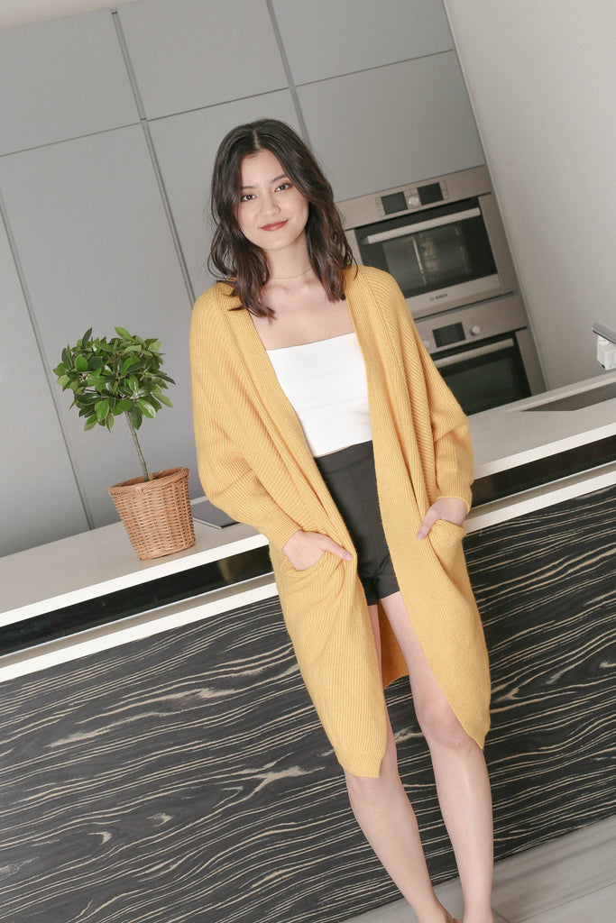 BEA COSY SOFT KNIT CARDIGAN IN SUNSHINE