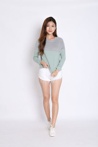 PASTEL PULLOVER (GREY/ MINT)