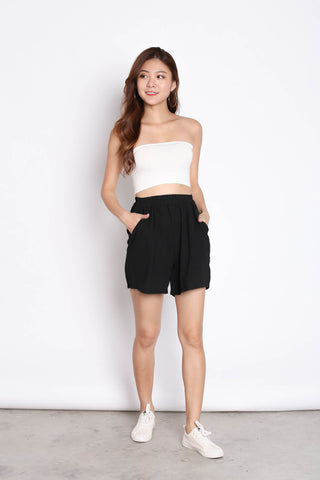 REV TRENCH TOP + SHORTS SET IN BLACK