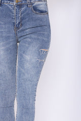 BASIC SLIM FIT DENIM JEANS IN BLUE