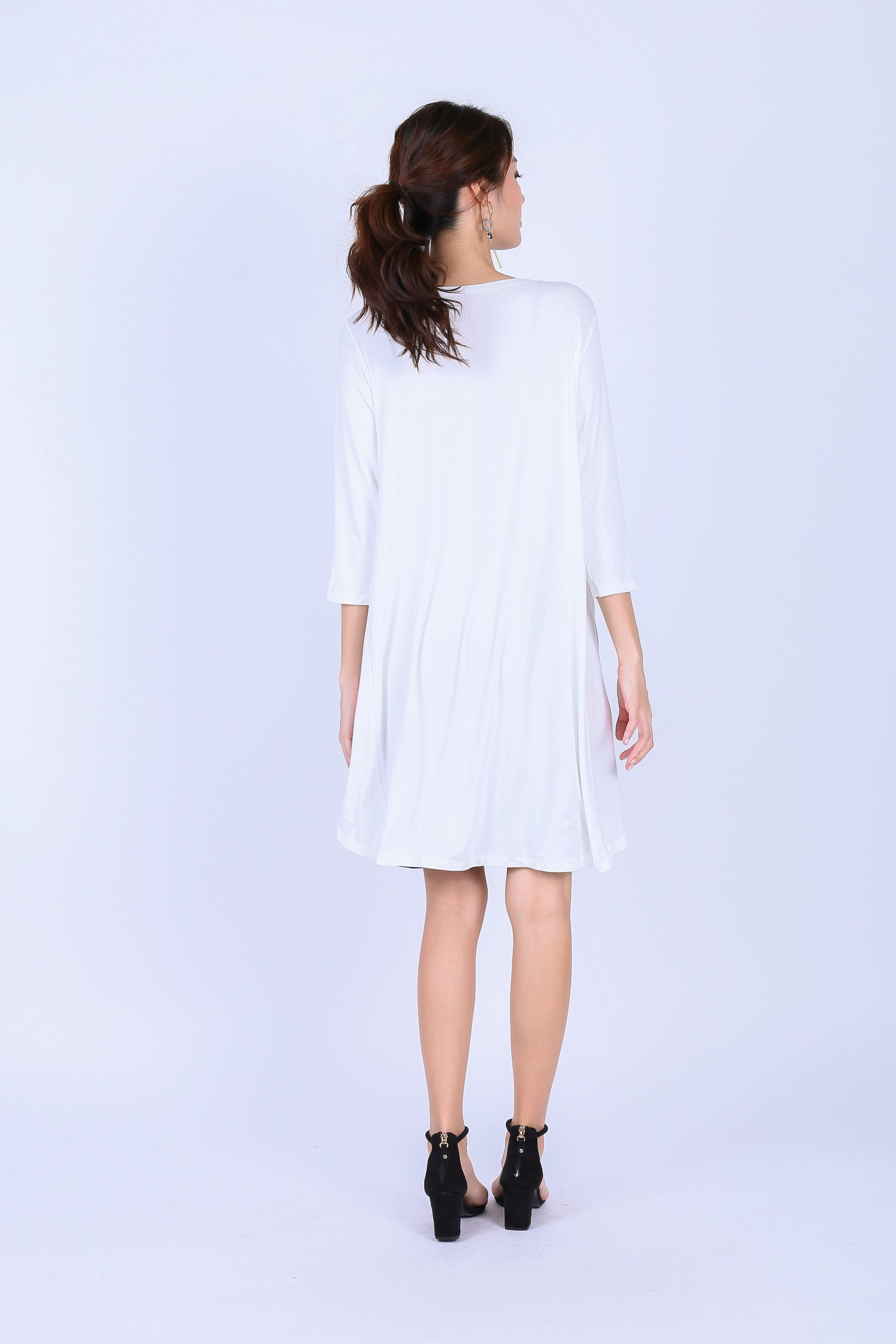 EVERYDAY COTTON LONGLINE CARDIGAN IN WHITE