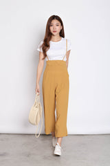 GITEL BUTTON DUNGAREE SET IN MUSTARD