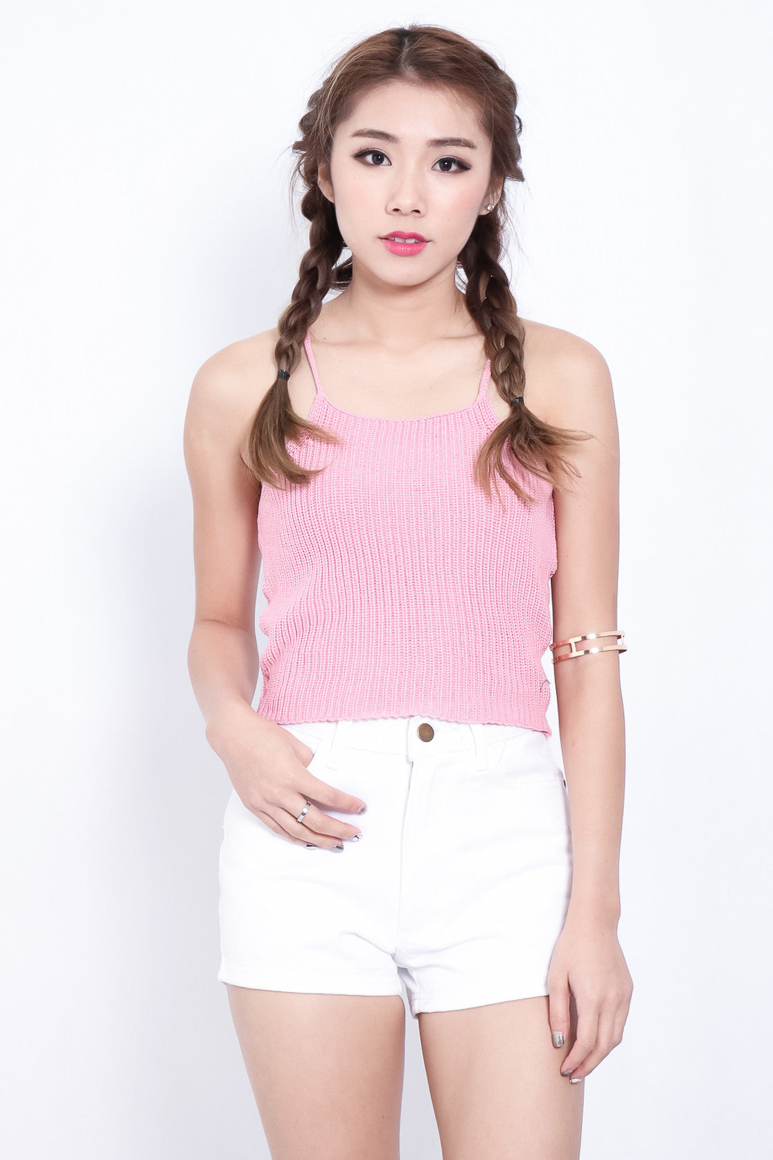 BERLIZE KNIT TOP IN PINK - TOPAZETTE