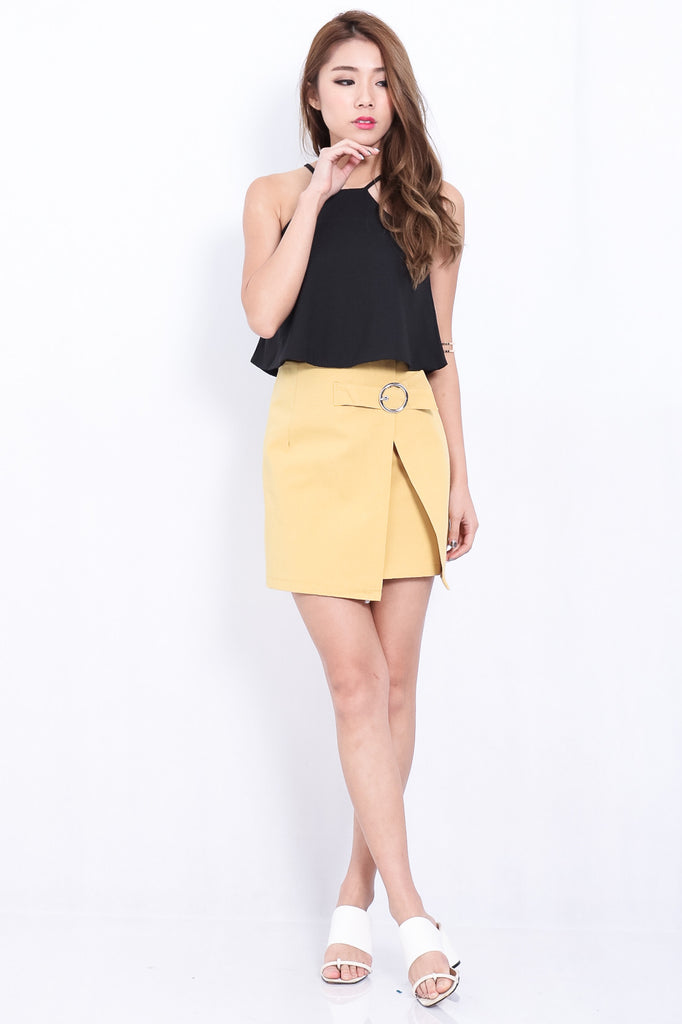 MINIMALIST RING SKIRT IN MUSTARD - TOPAZETTE