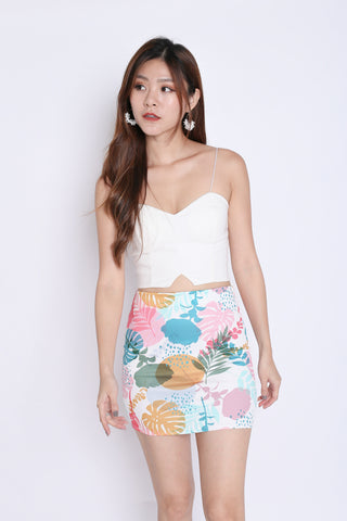 FLORAL BODYCON SKIRT (SUMMERY PASTEL)