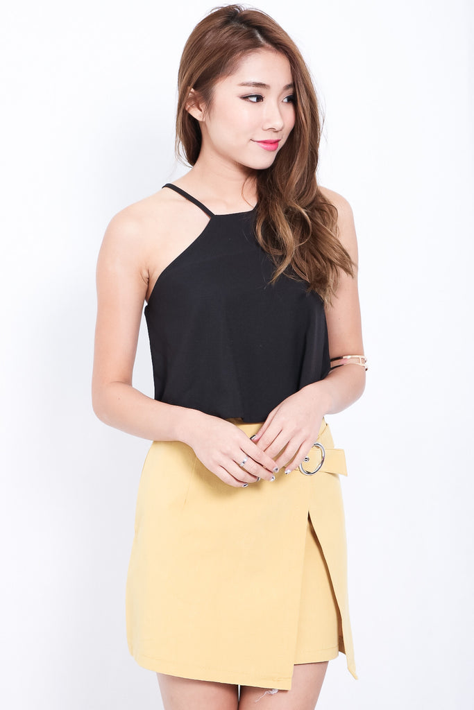 MINIMALIST RING SKIRT IN MUSTARD