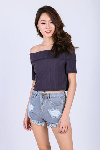 VIDA DENIM SHORTS IN CLASSIC BLUE