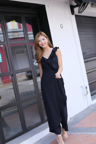 (PREMIUM) TALYSE JUMPSUIT IN BLACK
