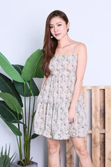 AUTUMN FLORAL DRESS IN IVORY