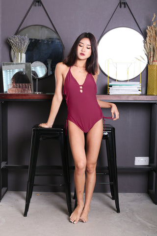 *BACKORDER* ERI LACED UP MONOKINI (FUCHSIA)