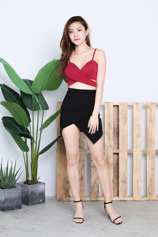 UNDERWRAP BRALET IN WINE
