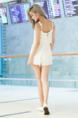 *TOPAZ* JUST CHILLING CROCHET ROMPER IN WHITE - TOPAZETTE