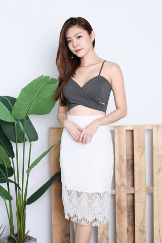 UNDERWRAP BRALET IN DARK GREY