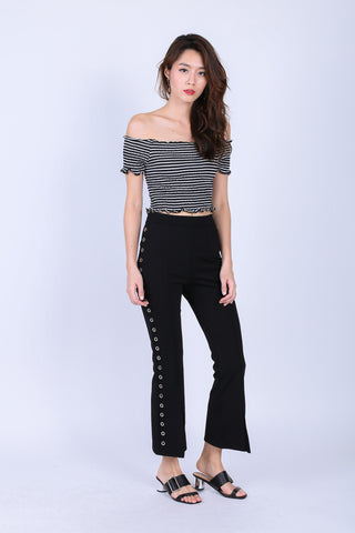 TRIXIE RING SIDE LONG PANTS IN BLACK