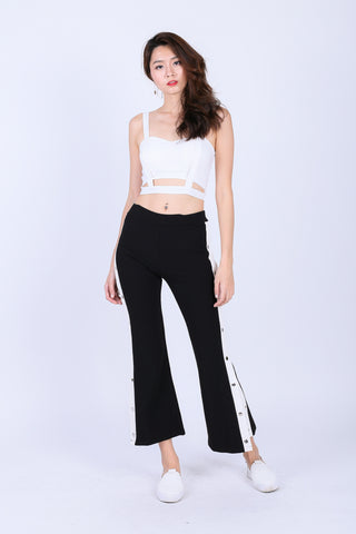 MAKE OR BREAK PANTS IN B/W
