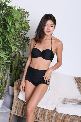 VIOLETTA HIGH WAIST BIKINI SET (BLACK)