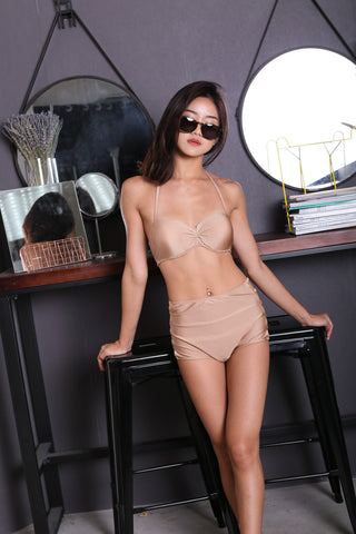 VIOLETTA HIGH WAIST BIKINI SET (GOLD)