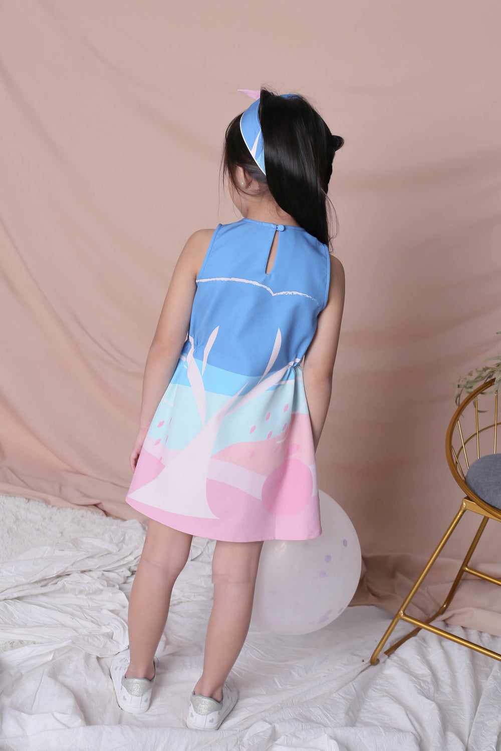 *LITTLE TOPAZETTE* APPLE OF MY EYE ELASTIC WAIST DRESS IN PINK