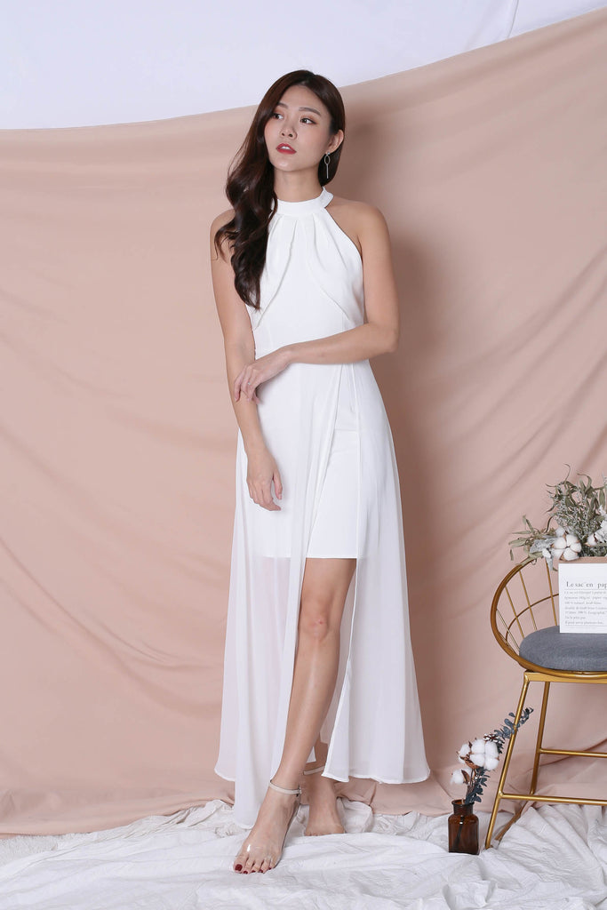 *TPZ* (PREMIUM) HALYN HALTER MAXI IN WHITE - TOPAZETTE