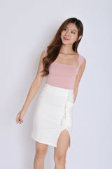 *BACKORDER* BASIC SQUARE SPAG CROP TOP IN DUSTY PINK